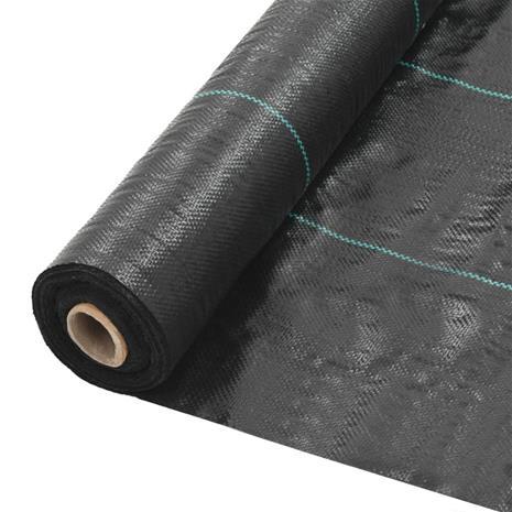 vidaXL Rikkaruohojen ja juurien kontrollointimatto PP 2x10 m musta