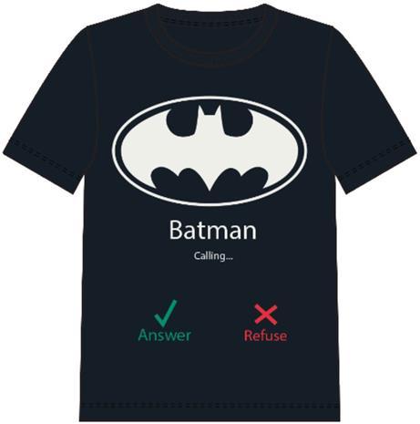 Name it Nate T-Paita Batman, Black, 146/152