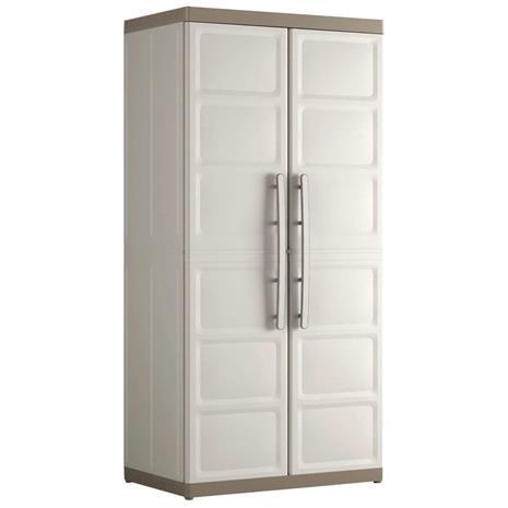 Keter Korkea kaappi Excellence XL beige ja ruskeanharmaa 68x39x182 cm