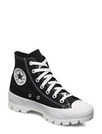 Converse Ctas Lugged Hi Black/White/Black Korkeavartiset Tennarit Musta Converse BLACK/WHITE/BLACK