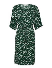 Marimekko Lidia Tuulahdus Dress Polvipituinen Mekko Vihreä Marimekko DARK GREEN, GREEN, OFF-WHITE