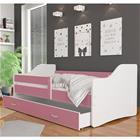 Sweet lastensänky laatikolla, 80 x 140 cm + patja, valkoinen/pinkki