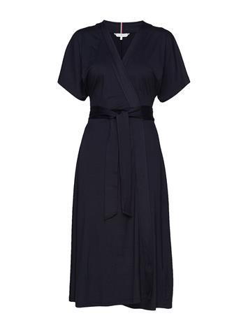Tommy Hilfiger Alana Regular Wrap Dress Ss Polvipituinen Mekko Sininen Tommy Hilfiger DESERT SKY