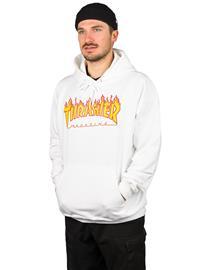 Thrasher Flame Hoodie white Miehet