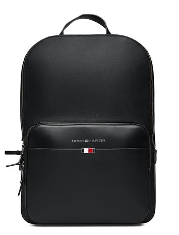 Tommy Hilfiger Business Leather Backpack Reppu Laukku Musta Tommy Hilfiger BLACK