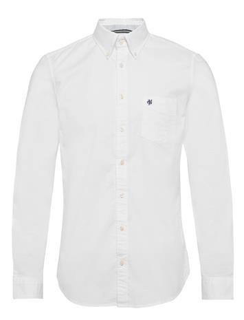Marc O'Polo Button Down, Long Sleeve, Stitching Paita Rento Casual Valkoinen Marc O'Polo WHITE