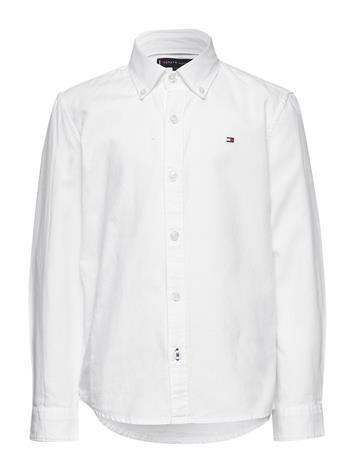 Tommy Hilfiger Overdye Dobby Shirt L/S Paita Valkoinen Tommy Hilfiger WHITE
