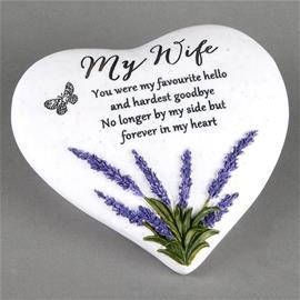 My Wife - Hjärtformad Gravsmyckning gravsten