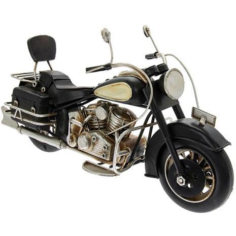 Exklusiv Vintage Tin Motorcykel - 27cm
