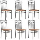 vidaXL Ruokapöydän tuolit 6 kpl ruskea MDF