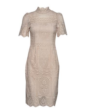 By Malina Naima Dress Polvipituinen Mekko Beige By Malina BARELY BEIGE
