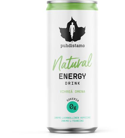 Puhdistamo Natural Energy Drink, energiajuoma 330 ml