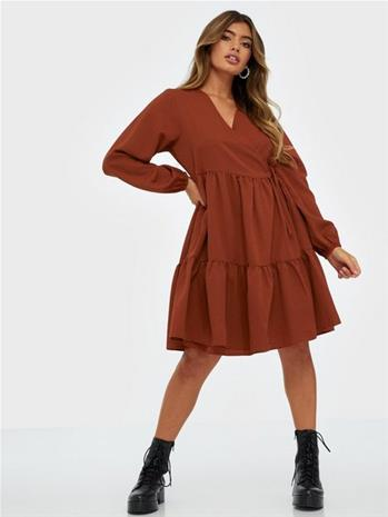 Pieces Pccamilla Ls Wrap Dress D2D