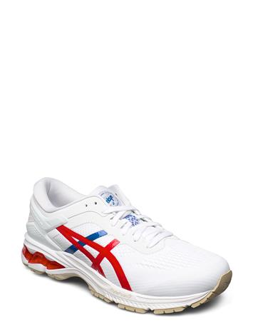 Asics Gel-Kayano 26 Shoes Sport Shoes Running Shoes Valkoinen Asics WHITE/CLASSIC RED