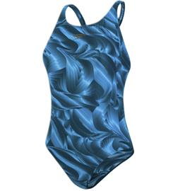 Speedo W COLOURTONE ALLOVER POWERBACK NORDIC TEAL/POWDER