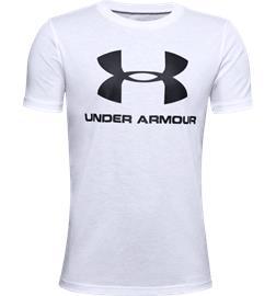 Under Armour J SPORTSTYLE LOGO SS WHITE/BLACK