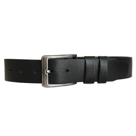 Nahkainen housujen vyö Basic, musta 3,5 x 130 cm