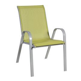 Tuoli DUBLIN 73x55,5xH93cm, istuin ja selkänoja: textiline, väri: vihreä, teräsrunko, väri: harmaa