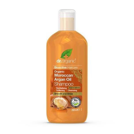 Dr. Organic -shampoo, sis. arganöljyä, 265 ml