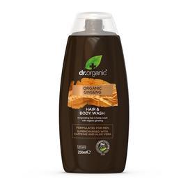 Dr. Organic -miesten suihkugeeli kasvoille&vartalolle&hiuksille, 250 ml