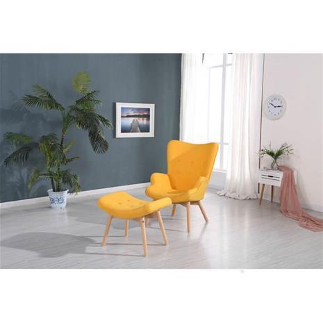 Nojatuoli ja Rahi Lucas, keltainen