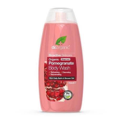 Dr. Organic -suihkugeeli, sis. granaattiomenaa, 250 ml