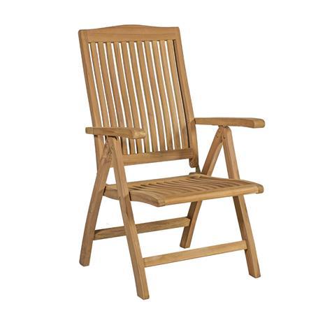 Tuoli ROSY 49x62xH110cm, kokoontaitettava, monta asentoa, puu: tiikki, viimeistely: hieno hiottu, ei öljytty