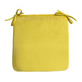 Istuintyyny VELVET 39x39xH2,5cm, keltainen, 100%polyesteri, kangas 828