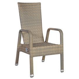 Tuoli MALE 56x71,5/107xH86/107cm, säädettävä selkänoja, alumiinirunko muovipunoksella, väri: harmaa