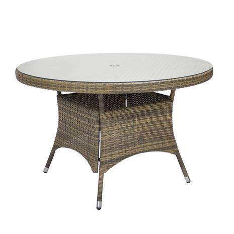 Wicker pöytä, D120xH76cm, cappuccino