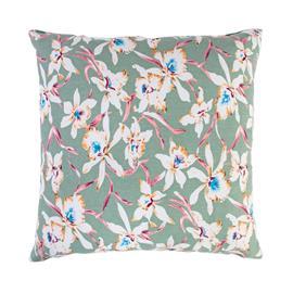 Tyyny SUMMER 45x45cm, orkideat / vihreä, 50%polyesteri, 50%puuvilla, kangas 118