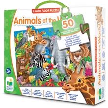 The Learning Journey TLJ Jumbo Floor Puzzles Animals of the World Lattia