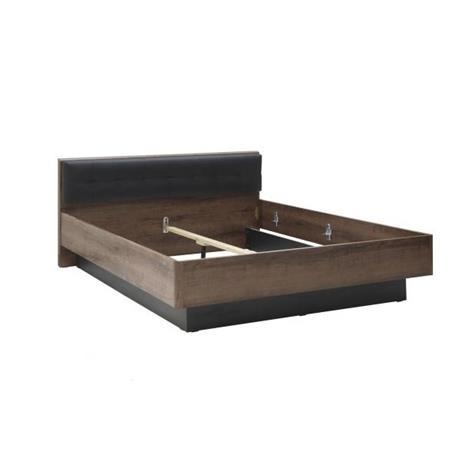 Baveno-sänky, 180 x 200 cm, musta tammi-tumma tammi