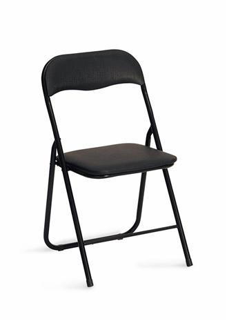 Kasattava tuoli tuoli, musta