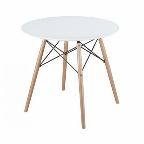 Ruokapöytä Mattias D80 cm, valkoinen