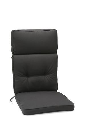 Milano korkeaselkäisen tuolin pehmuste, tummanharmaa
