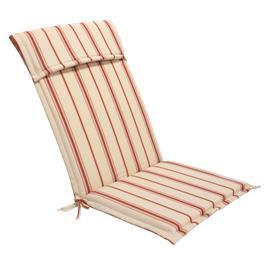 Istuin-/selkänojapehmuste FLORIDA 48x115x6cm, 7 pos.tuolille, 50%puuvilla/50%polyesteri, kangas 624