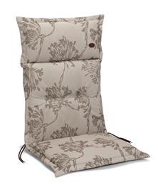 Milano korkeaselkäisen tuolin pehmuste, beige/kukallinen
