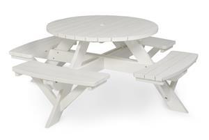 Rund pöytäryhmä, ä˜ 110 cm, valkoinen
