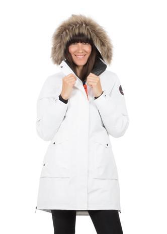 Icepeak Breda naisten talviparka, valkoinen 46