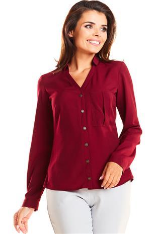 Naisten paita, viininpunainen, S (36)