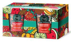 """Organic Shop lahjapakkaus """"Body Dessert"""": Syväpuhdistava vartalokuorinta + vartalon kosteusvaahto"""