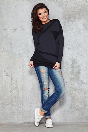 Naisten paita, tummanharmaa, L/XL (40/42)