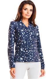 Naisten paita, tummansininen-kukallinen, S (36)