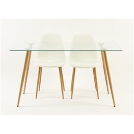 Brownsville-pöytä, puujäljitelmä, 140 x 80 cm