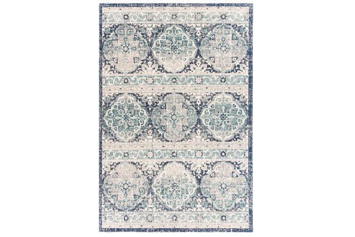 4Living matto Serenity 194 x 290 cm, sininen/harmaa