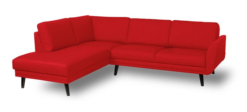 Happy kulmasohva, oikea kulma, punainen