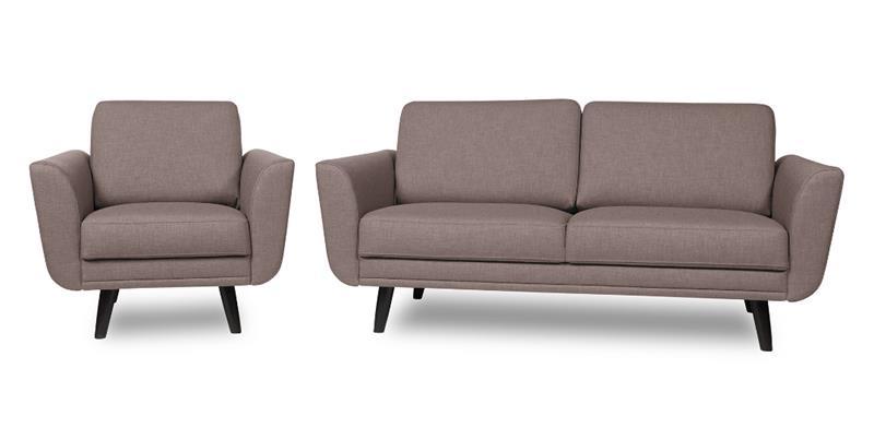 Happy sohva, kahden istuttava , ruskeanharmaa