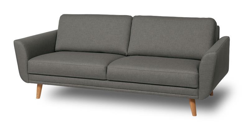 Happy sohva, 2,5 istuttava, harmaa