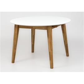 Berkley-jatkettava ruokapöytä 110ä·160 x 100 cm, tammi/valkoinen